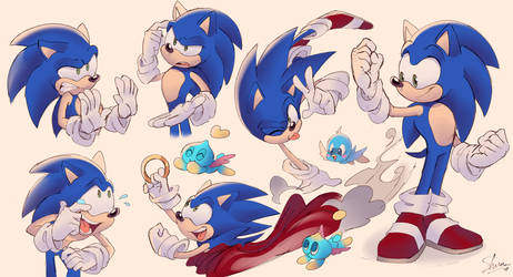 Sonic sketches by Shira-hedgie