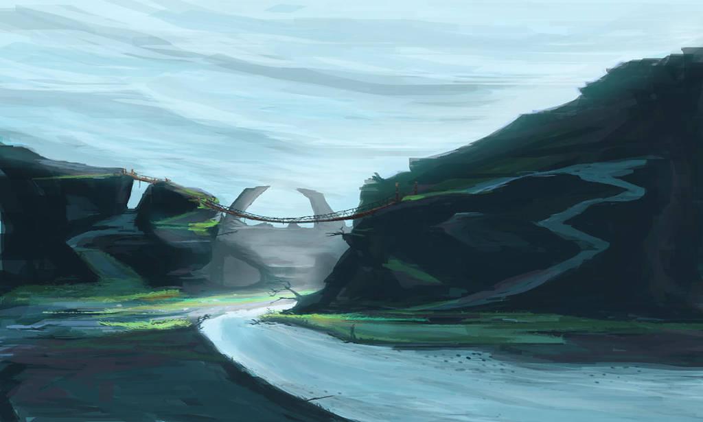 Mountain bridge by cjohn22