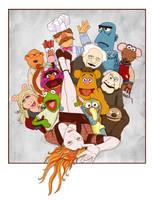 sasha and the muppets by neilakoga