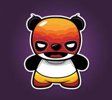 el luche libre panda by neilakoga
