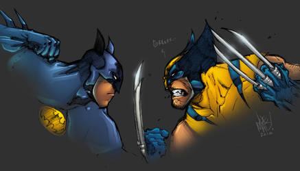 Batman vs Wolvie by AlonsoEspinoza