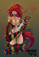 Red Monika by AlonsoEspinoza