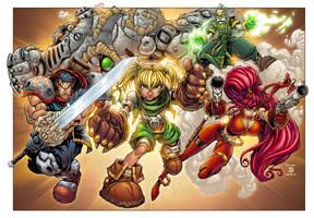 Battle Chasers by AlonsoEspinoza