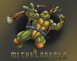 TMNT Michelangelo print by AlonsoEspinoza