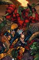 Wolverine and Hellboy by AlonsoEspinoza