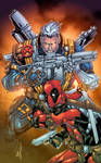 Cable n' Deadpool by AlonsoEspinoza