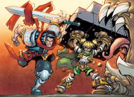 Battle Chasers: Garrison+Gully by AlonsoEspinoza