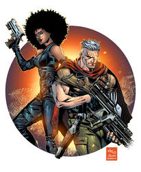 Domino and Cable by AlonsoEspinoza