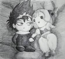 Hiei and... Sumomo? by Candid-Ishida