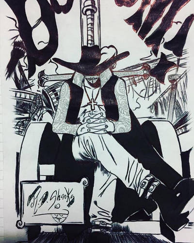 Mihawk draw by DrumArt
