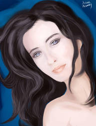 Eva green portrait attempt by AstralAnomaly