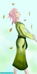 Sakuras Fall Day by AstralAnomaly