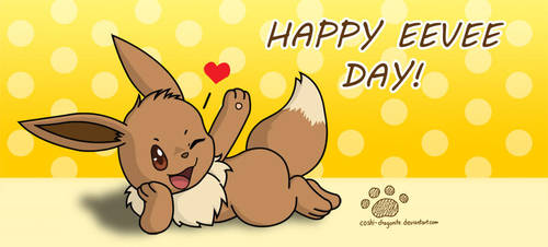Happy Eevee Day! by Coshi-Dragonite