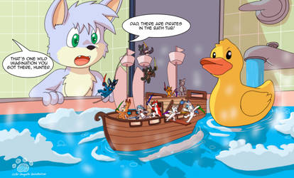 Pirates in the bathtub by Coshi-Dragonite