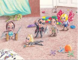 Art collab : Tomb Raider Playful Moments by El-Fracasor