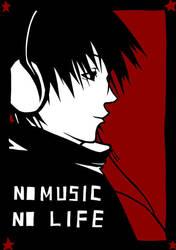 no music no life by kazenokibou