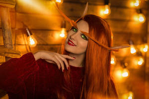 Winter Veil Blood Elf Cosplay (World of Warcraft) by SigmaNas