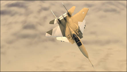 Fighter Over the Desert by TheCSLeader