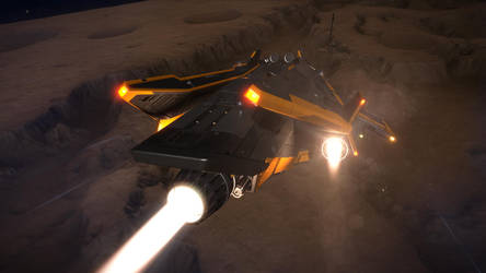 Elite Dangerous - Landing by Bisougai