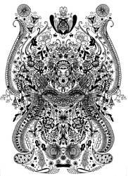 Monkey Worship by FractalBee