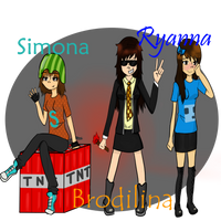 Simon, Bodil and Double: Genderbent by Moomin9