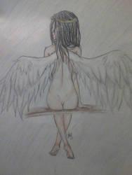 With Angel Wings by Rustyfur