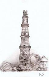 the qutub minar by bluewingz23