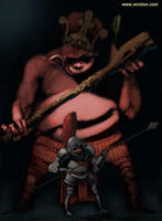 Popolon the blacksmith by sirelion80