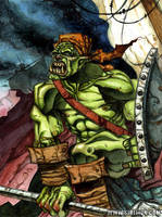 The pirate orc by sirelion80