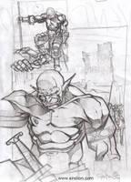 Orc sketch N1 by sirelion80