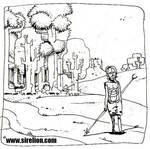 El hombre salvaje. Boceto6 by sirelion80
