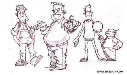 Cartoon sketches by sirelion80