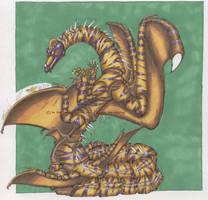 Serpent Dragon coloured by StarSeekerDragoness