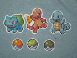 Pokemon Cross Stitch Patches by Nethilia