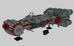 Lego Rebel Blockade Runner by deebeeArt