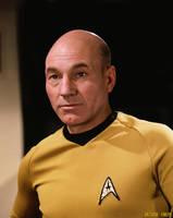 Patrick Stewart Captain Jean Luc Picard Star Trek by gazomg