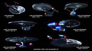 Star Trek the Enterprises by gazomg