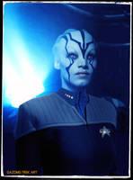 Jaylah Star Trek Beyond in DS9 Uniform by gazomg