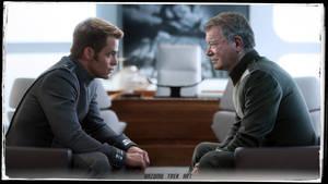 Captain Kirk meets Captain Kirk   Star Trek by gazomg