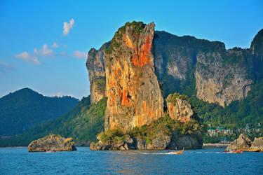 Ao Phra Nang Beach, Railay Beach, Krabi, Thailand by Aishlling