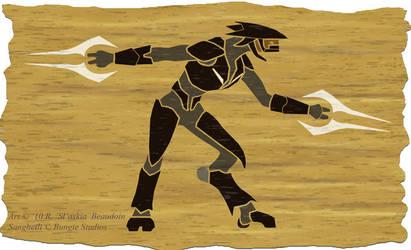 Sangheili parchment by Slaskia