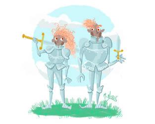 Knight-siblings by M-Nires