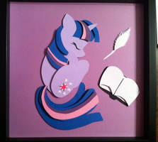 [SOLD]  Sleepy Twilight Sparkle Shadowbox by The-Paper-Pony