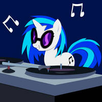 Commission: DJ-PON3 Shadowbox Mock-up by The-Paper-Pony