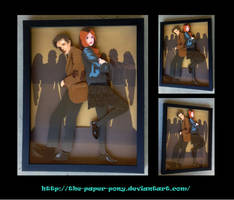 Shadowbox: 11th Doctor and Amy by The-Paper-Pony