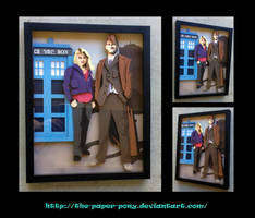 Shadowbox: 10th Doctor and Rose by The-Paper-Pony
