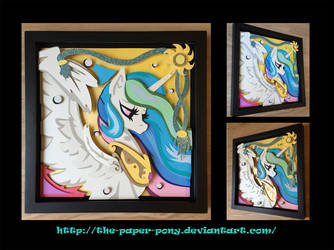 2016 Babscon Exclusive Celestia Shadowbox by The-Paper-Pony