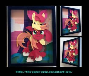 11x14 Applebloom and Big Mac Shadowbox by The-Paper-Pony