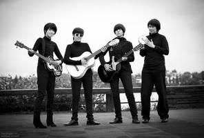 The Beatles Cosplay We're back by Murdoc-lein