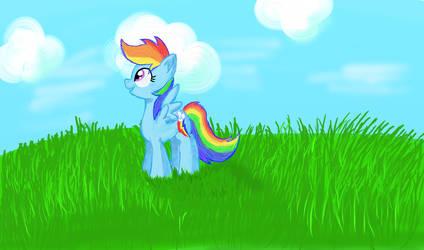 A Pegasus Dreaming by TuxRug